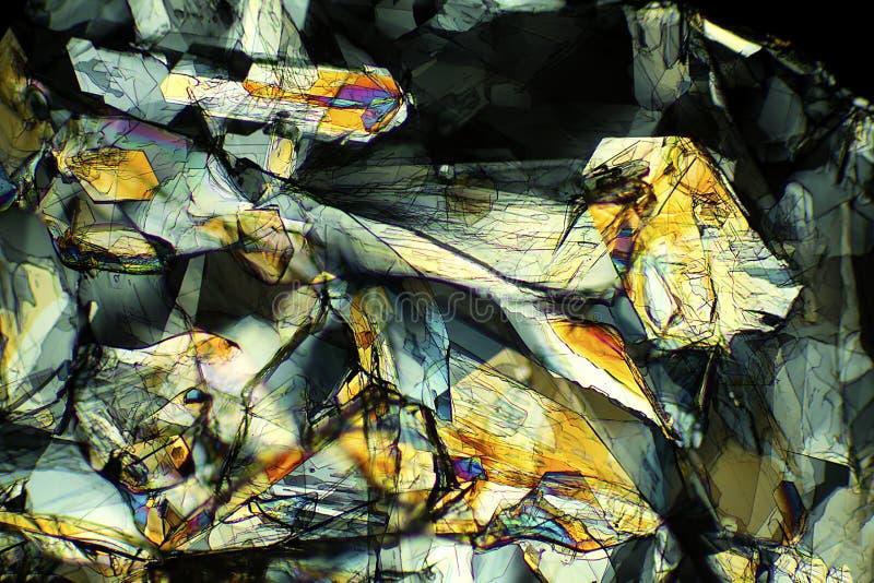 Micrographe abstrait de la méthionine, un acide aminé, à 40X image stock
