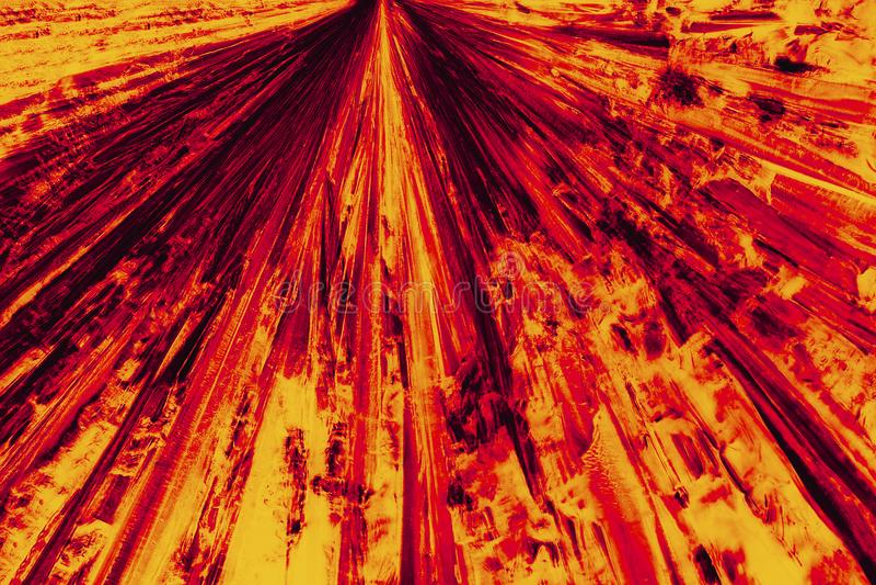 Micrographe abstrait de modèle rouge et orange lumineux de la lysine c photos libres de droits