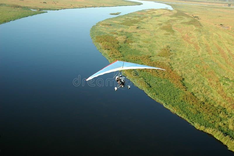 Microlight - Chobe河 库存图片