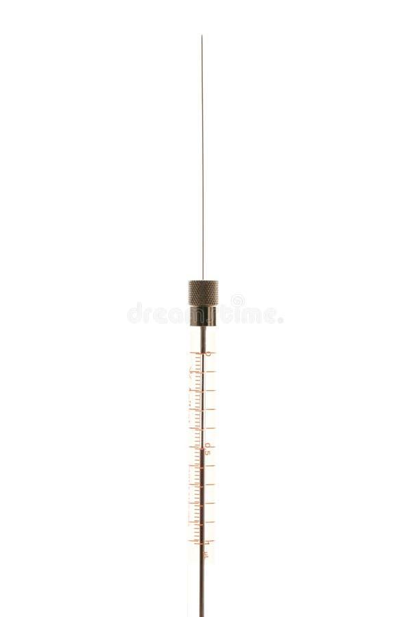 Microliter syringe with needle stock images