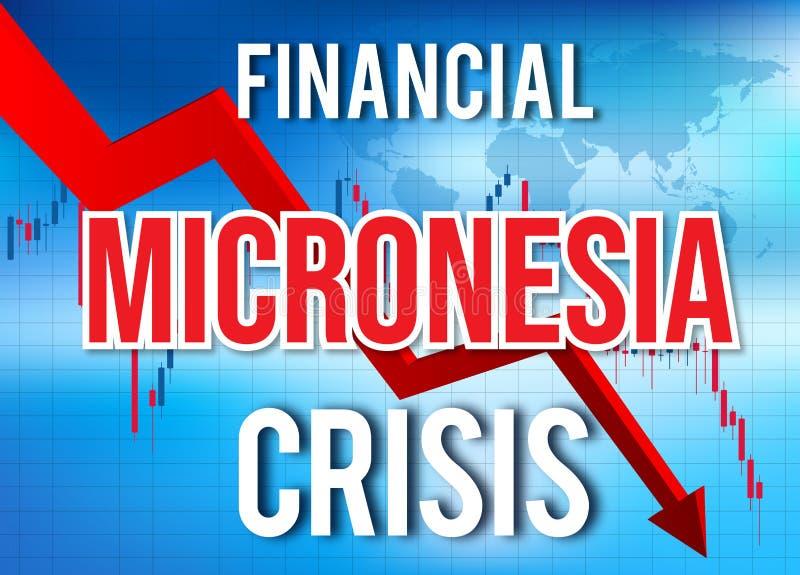 Micronesia Financial Crisis Economic Collapse Market Crash Global Meltdown. Illustration stock illustration