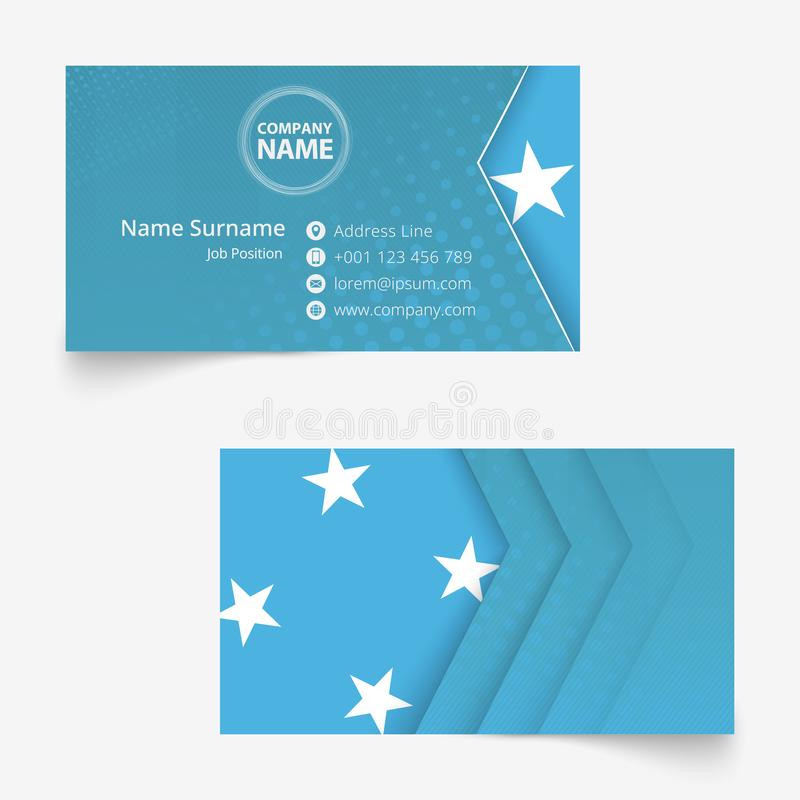 Micronesia Flag Business Card, Standard Size 90x50 Mm ...