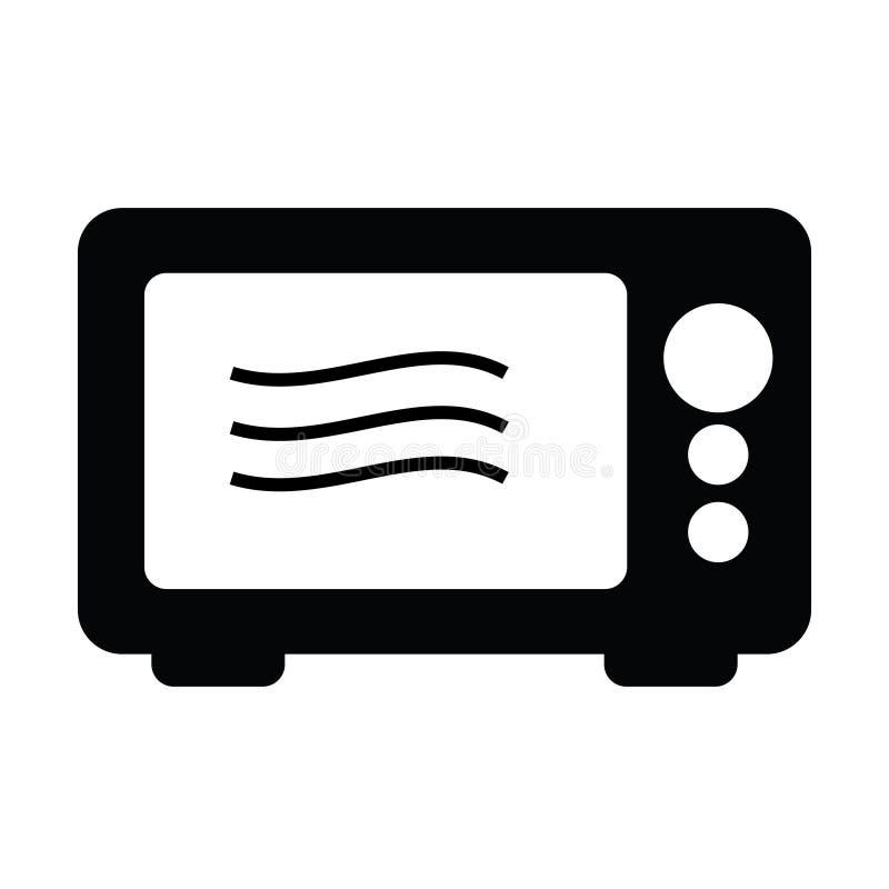 Microondas en la cocina libre illustration