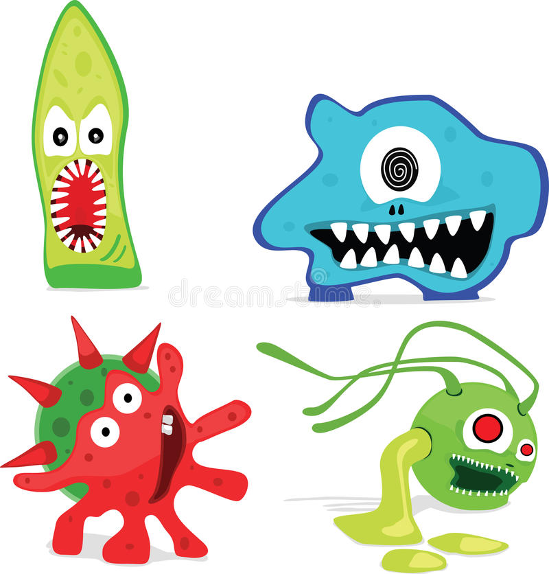 microorganisms stock illustrationer