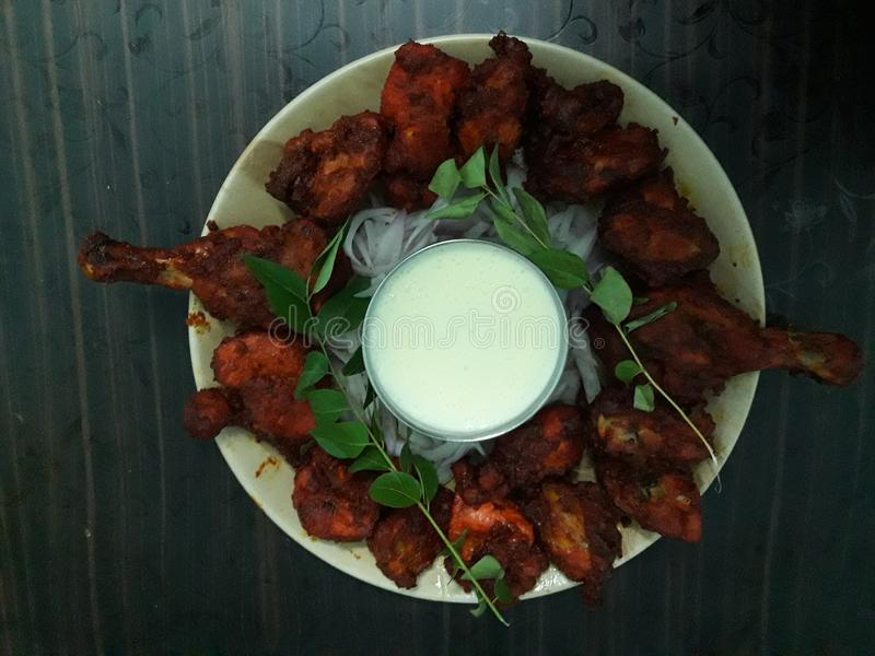 Tandoori. MicroOven style with added spices royalty free stock images