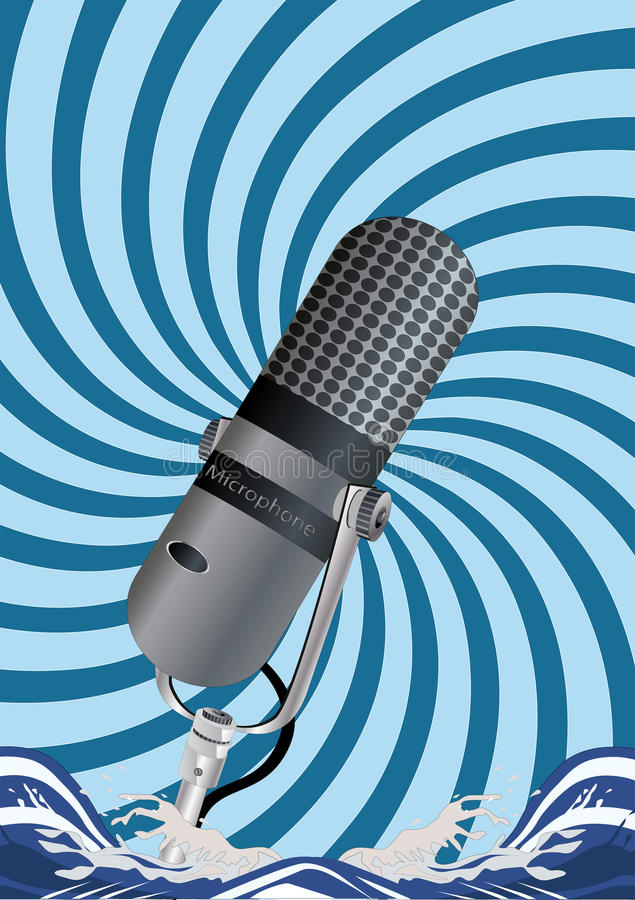 Download Microphone stock vector. Illustration of abstract, large - 13082213