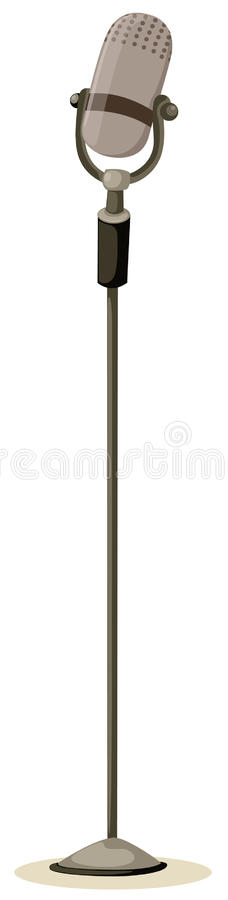 Microphone. Illustration of isolated microphone on white background royalty free illustration
