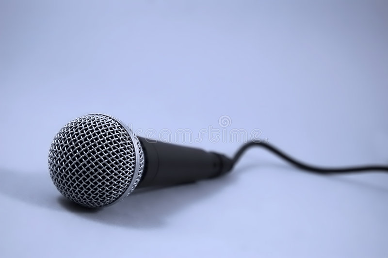 Microphone. Used for audio recording stock photography