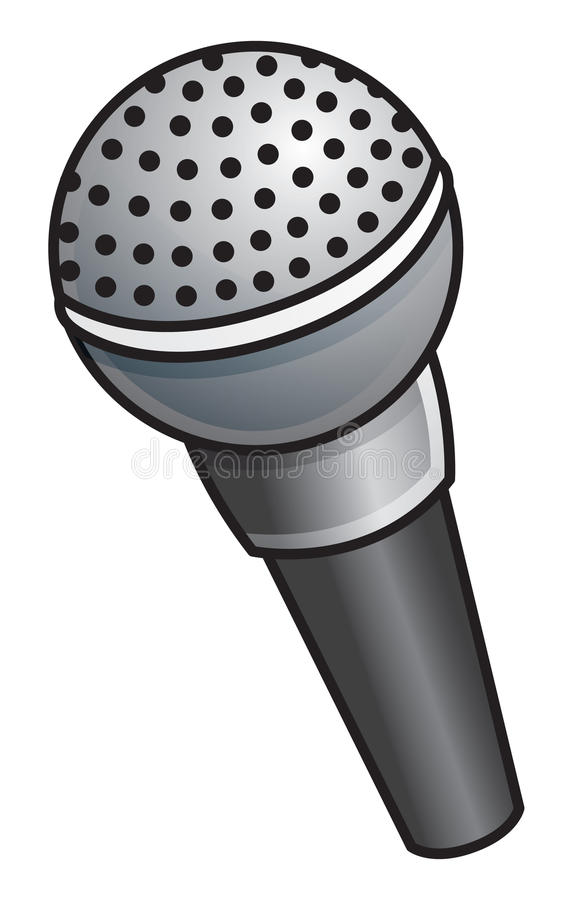 Microphone. Cartoon vector illustration of a microphone stock illustration