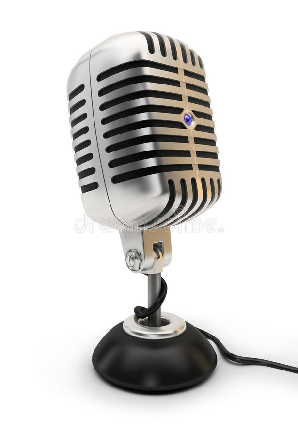 Microphone royalty free illustration