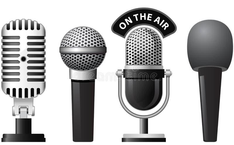 Microphone illustration de vecteur