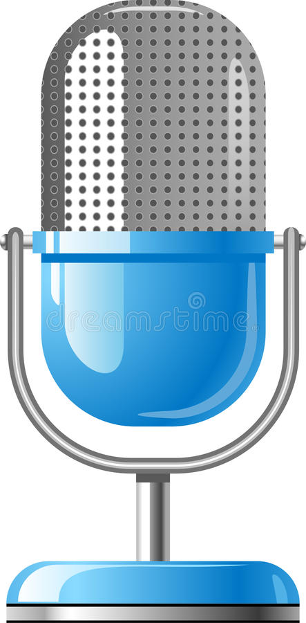 Microphone. Vector Microphone over white. EPS 8 royalty free illustration