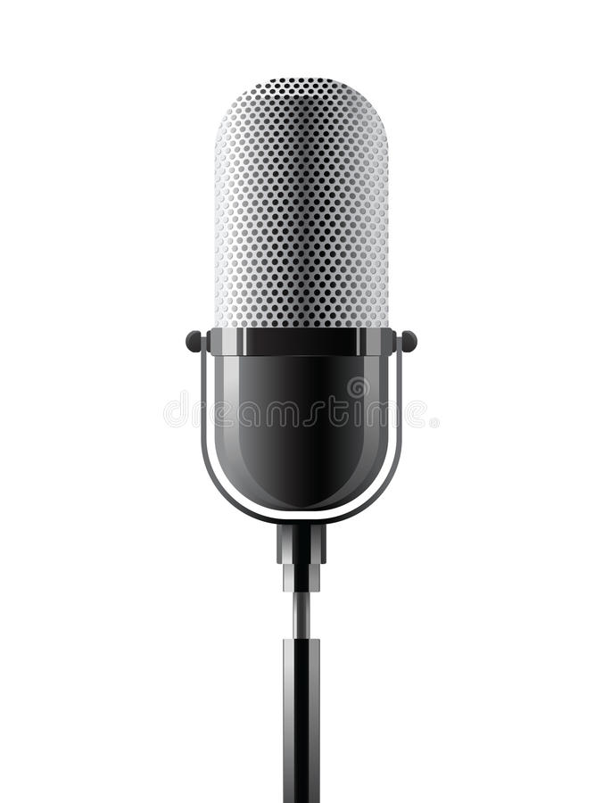 Microphone. Icon over white background royalty free illustration