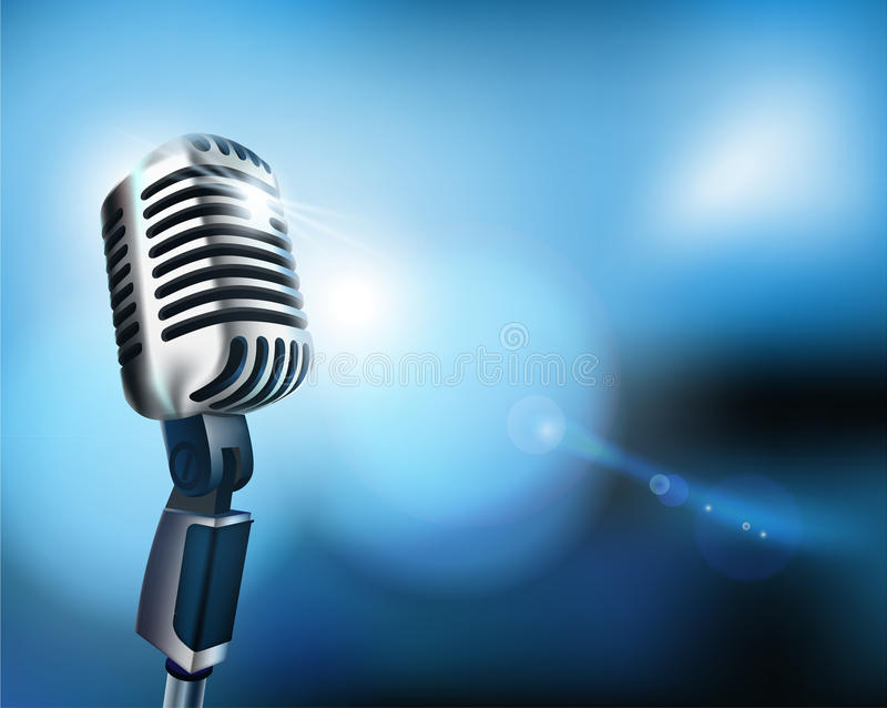 Download Microphone stock vector. Image of entertainment, festival - 19758847