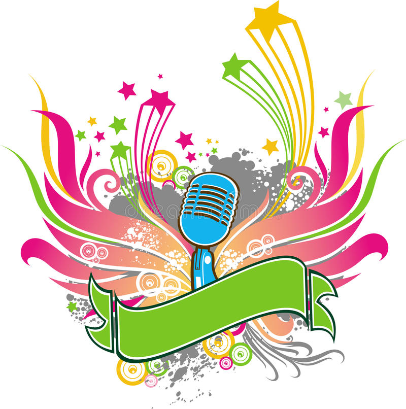 Microphone. An illustration of microphone pattern design royalty free illustration