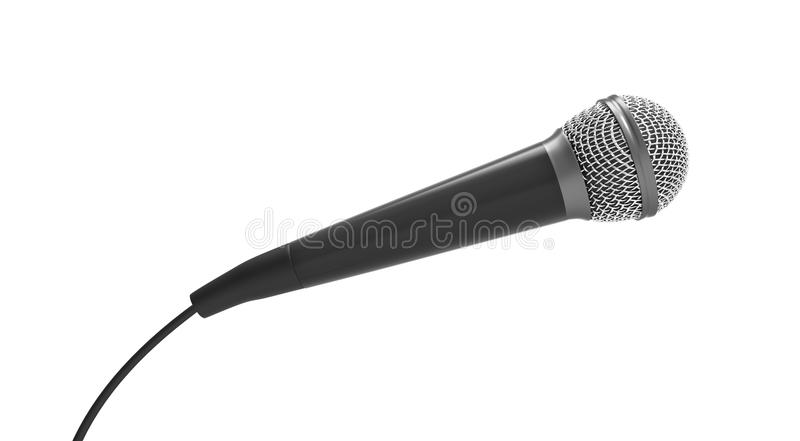 Microphone. Isolated on white background royalty free illustration