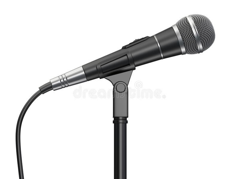 Microphone. Isolated on white background stock illustration