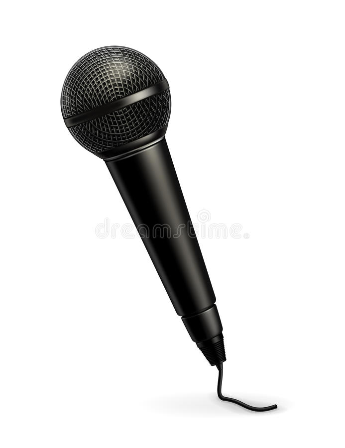 Download Microphone stock vector. Image of handle, microphone - 25099679