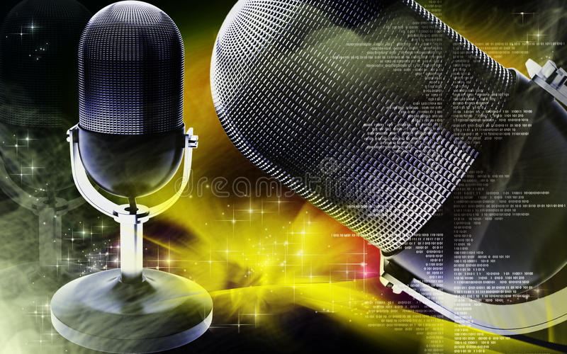 Download Microphone stock illustration. Illustration of melody - 26216105