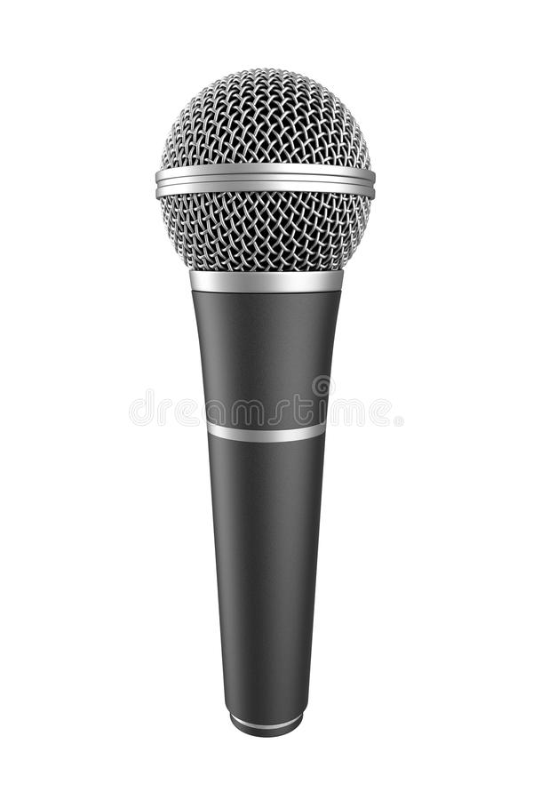 Microphone. Isolated on white background. Computer generated image vector illustration