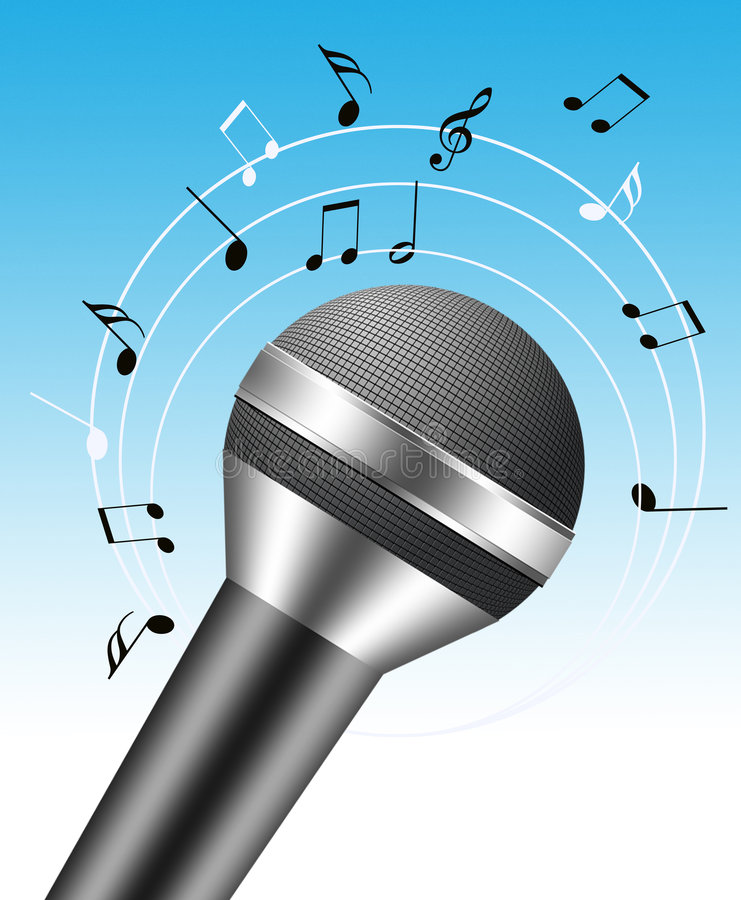 microphone 3d illustration stock