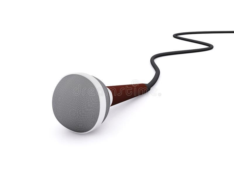 microphone 3d simple illustration libre de droits