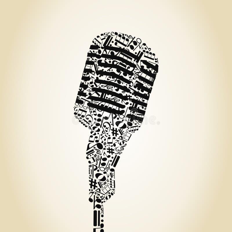 Microphone6 皇族释放例证