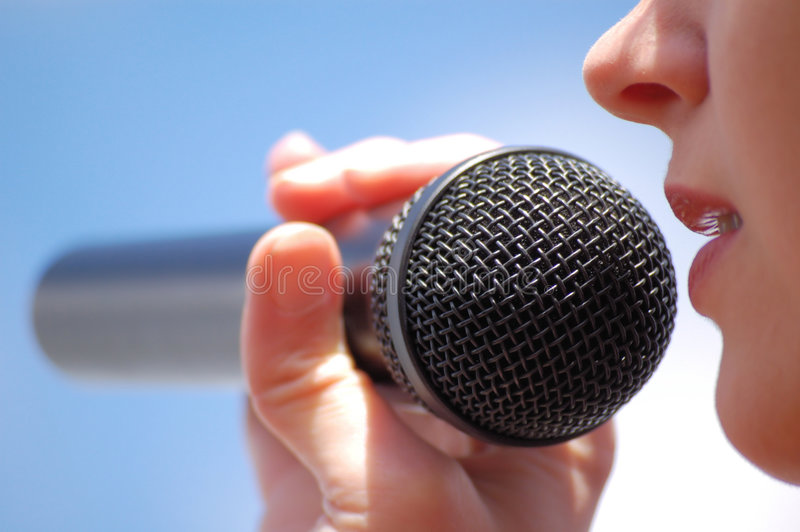 Download Microphone stock photo. Image of friendly, isolated, honest - 4867698
