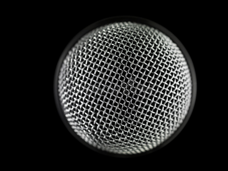 Microphone. Macro shot of a microphone royalty free stock photography
