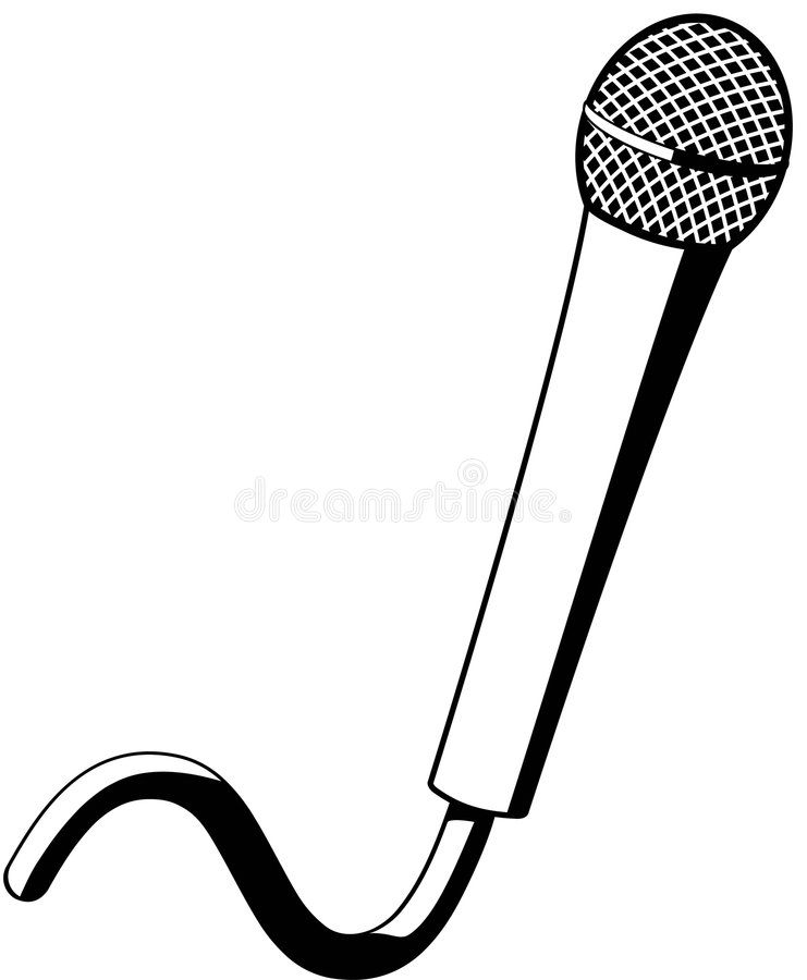 Microphone. Electronic microphone used for amplifying sound or voice vector illustration