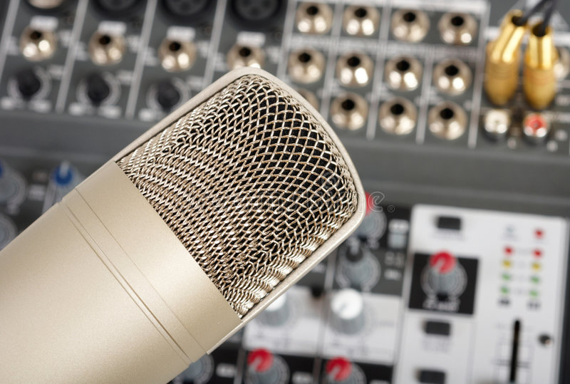 Download Microphone stock photo. Image of console, buttons, mixing - 8574384