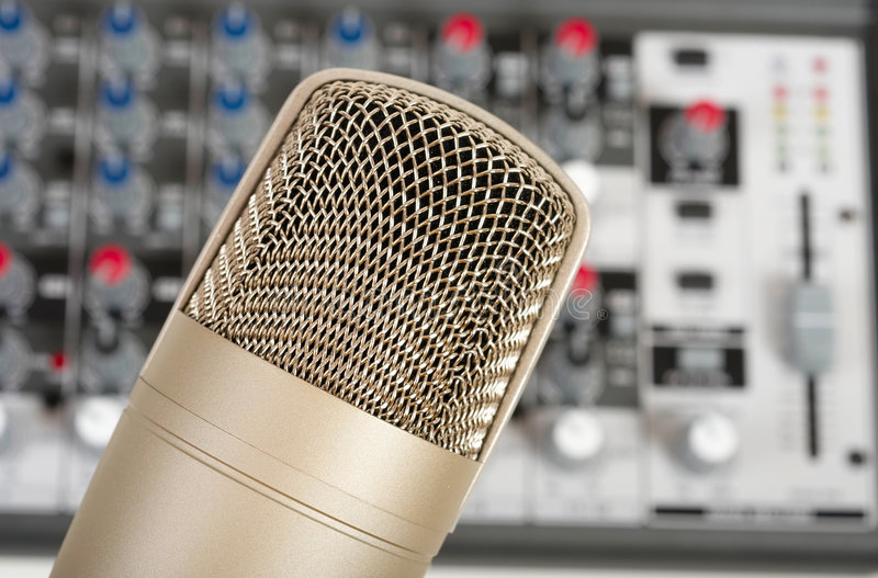 Download Microphone stock photo. Image of band, music, mixer, meters - 8801020