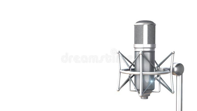 Microphone argenté de vintage illustration de vecteur