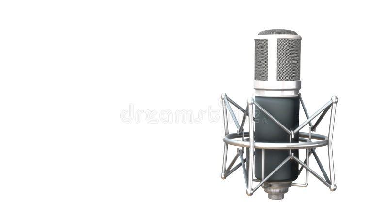 Microphone argenté de vintage illustration libre de droits