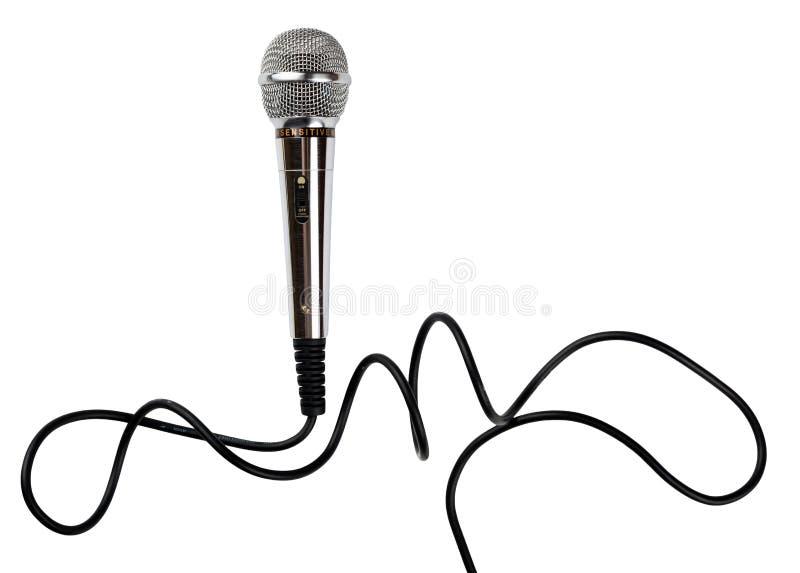 Microphone avec la corde images libres de droits