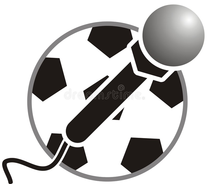 Download Microphone and ball stock vector. Image of drawing, sport - 2323604