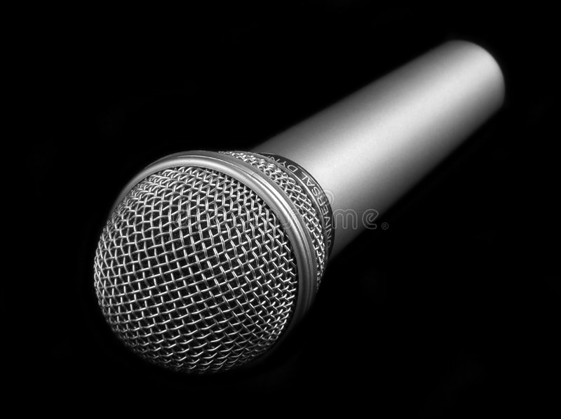 Microphone On A Black Background Royalty Free Stock Photos