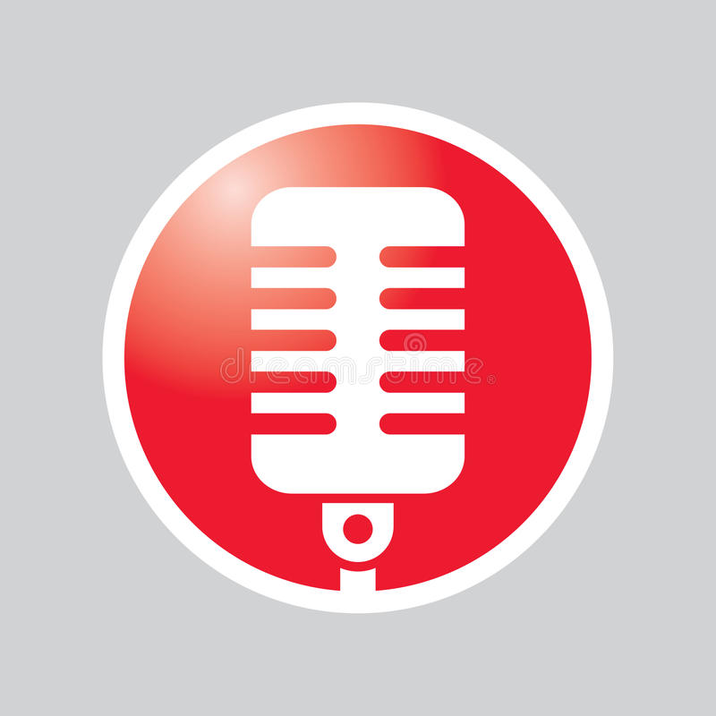 Microphone Button vector illustration
