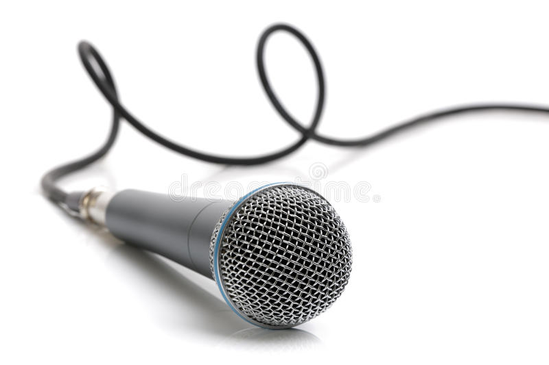 Microphone And Cable Royalty Free Stock Image