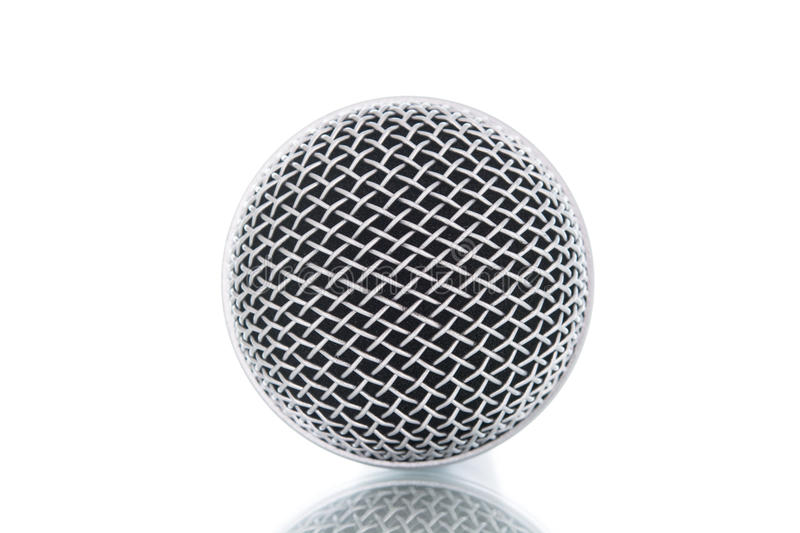 Microphone without cable isolated royalty free stock photo