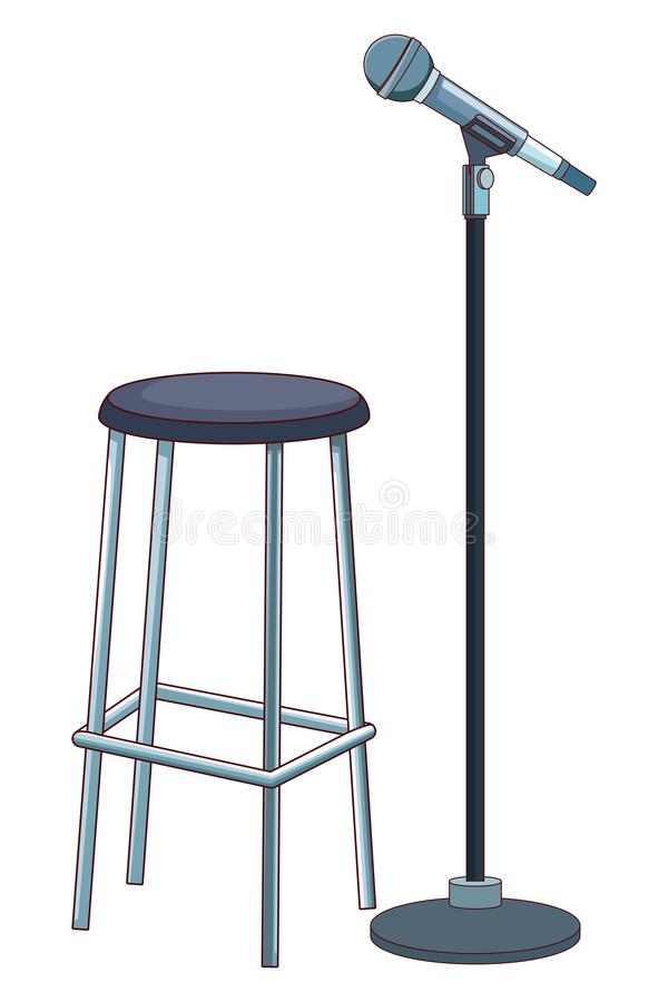 Microphone and chair royalty free illustration
