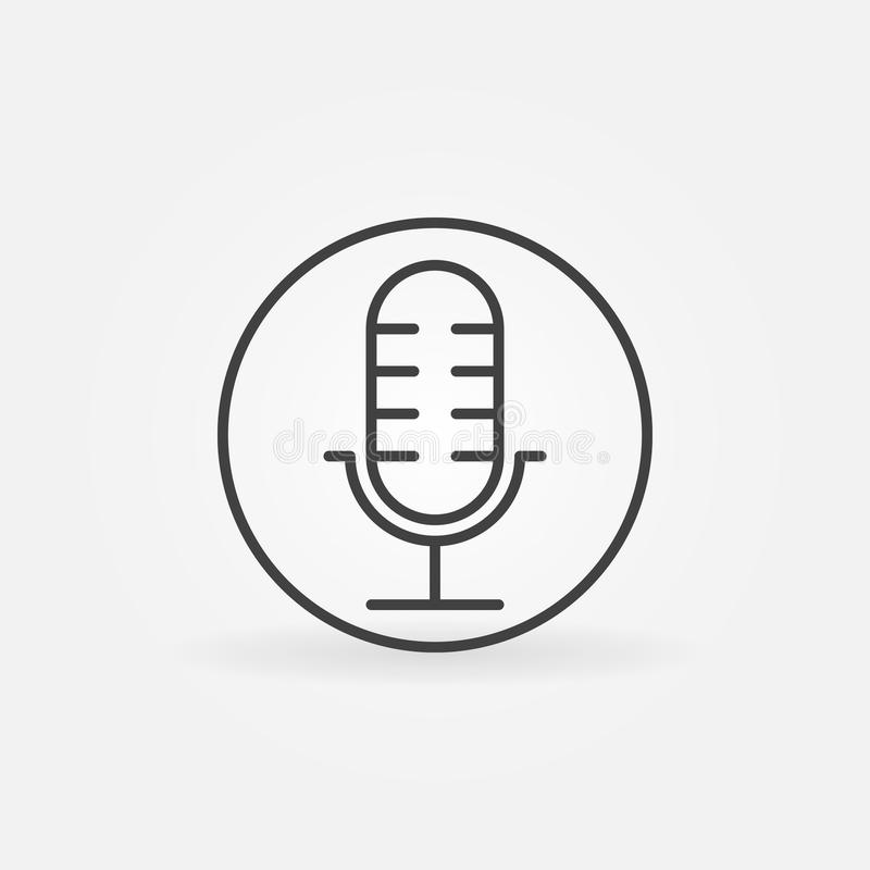 Microphone In Circle Vector Mic Icon Stock Vector - Illustration of ...