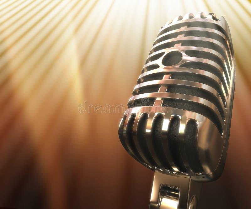Microphone classique photo libre de droits