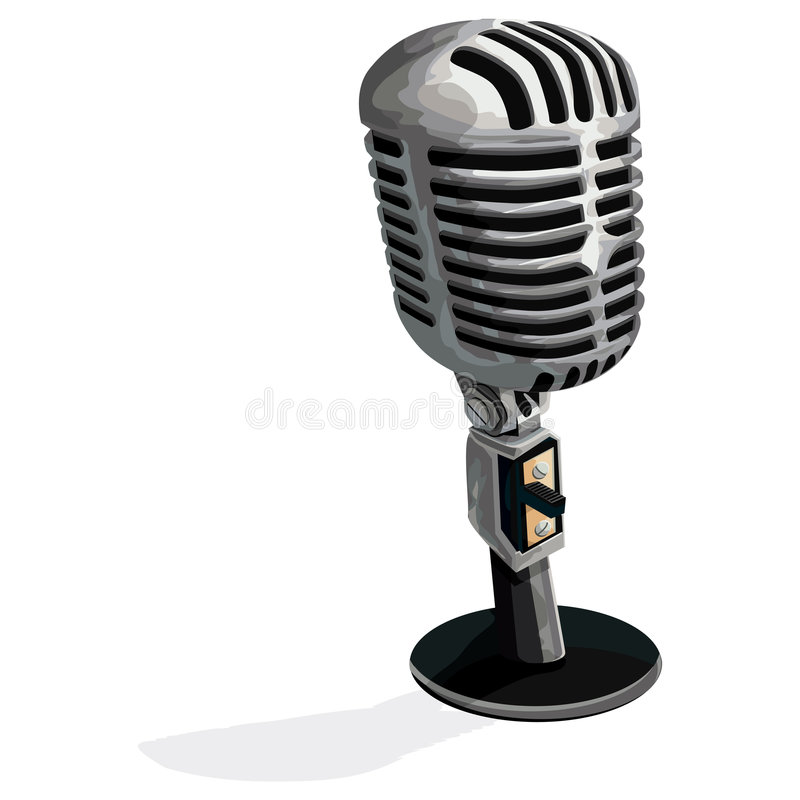 Microphone with clipping path royalty free illustration