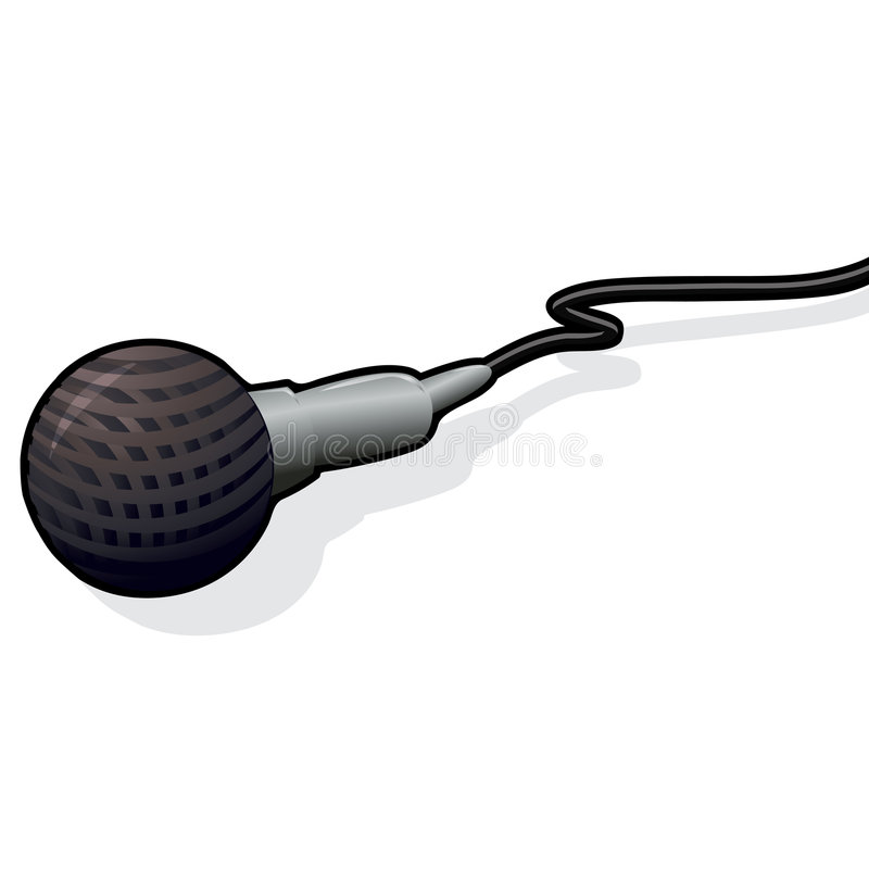 Microphone with clipping path vector illustration