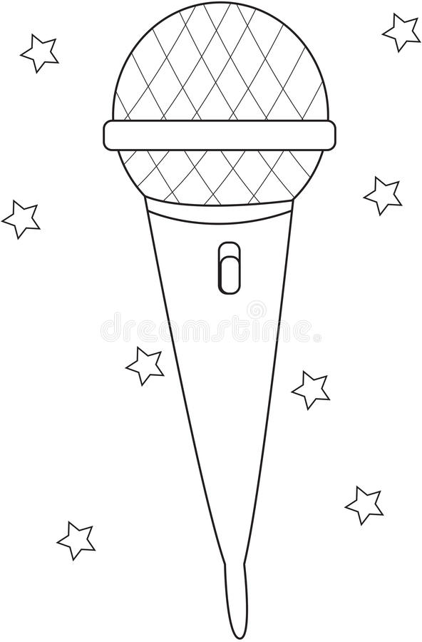 microphone coloring page stock illustration  illustration