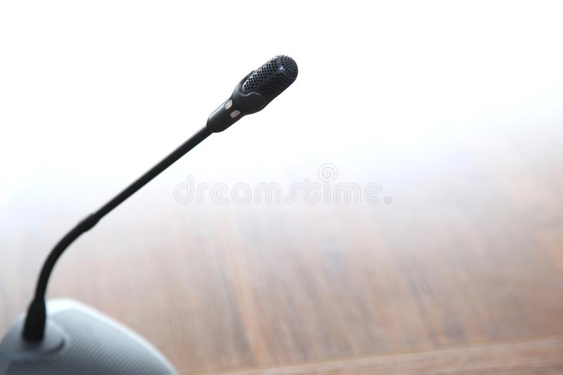 Microphone conference black ready for work royalty free stock photography