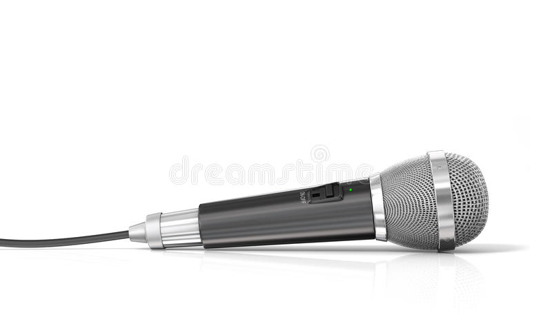 Microphone with cord royalty free illustration