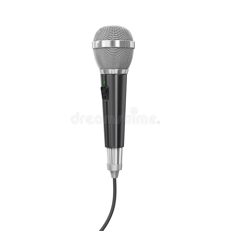 Microphone with cord vector illustration