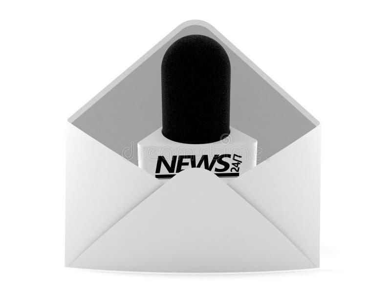Microphone d'entrevue à l'intérieur d'enveloppe illustration de vecteur